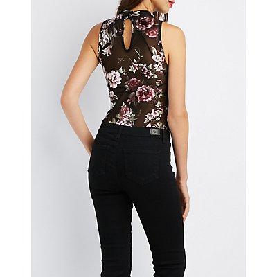 Floral Mock Neck Bodysuit