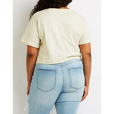 Plus Size Out Kast Crop Tee