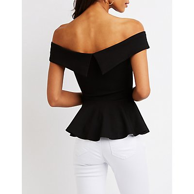 Off The Shoulder Peplum Top