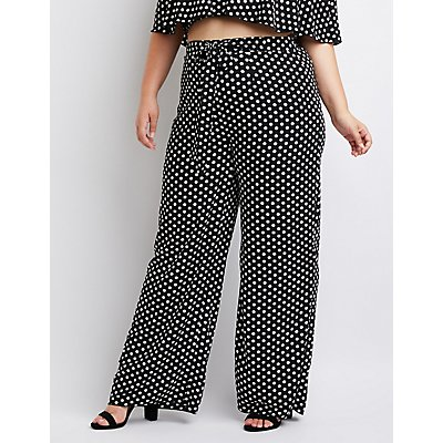 Plus Size Printed Off-The-Shoulder Crop Top
