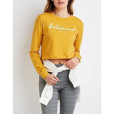 Weekend Mood Crop Top