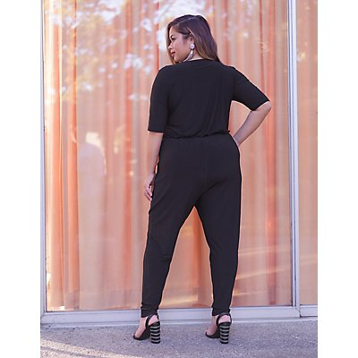 Plus Size Wrap Jumpsuit