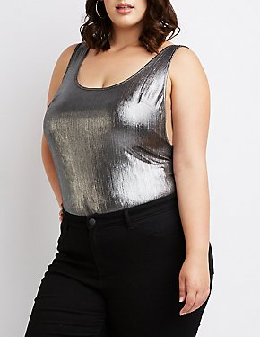 Plus Size Open-Back Bodysuit