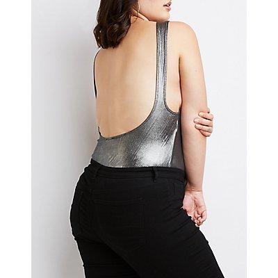Plus Size Open-Back Bodysuit