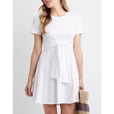 Tie Front Tee Dress