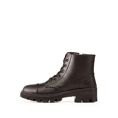 Bamboo Lace-Up Combat Boots