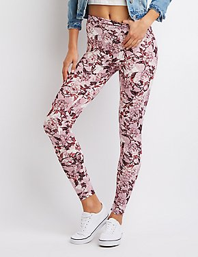 Floral Stretch Cotton Leggings