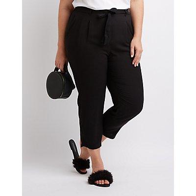 Plus Size Tie-Front Pants