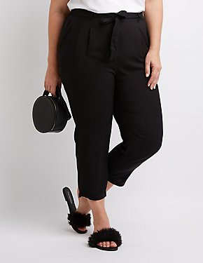 Plus Size Tie-Front Pants