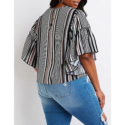 Plus Size Striped Top