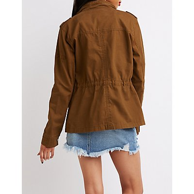 Zipper Detailed Anorak Jacket