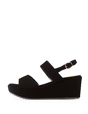 Slingback Wedge Sandals