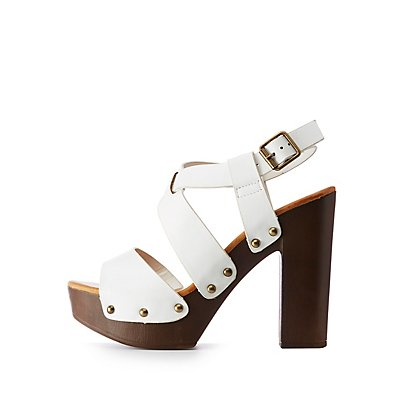 Bamboo Open Toe Platform Sandals