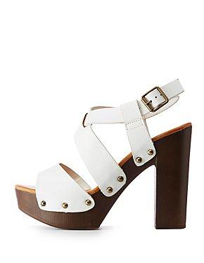 Bamboo Open Toe Platform Sandals