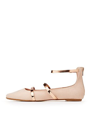 Bamboo Caged Pointed Toe Flats