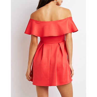 Off-The-Shoulder Skater Dress