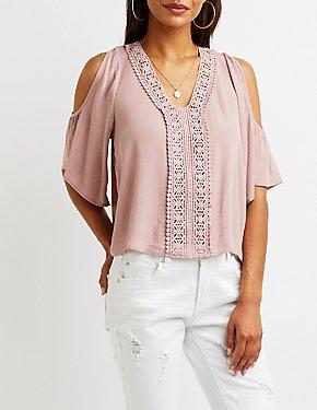 Crochet Cold Shoulder Top