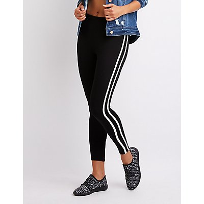 Varsity Stripe Hacci Knit Jogger Pants