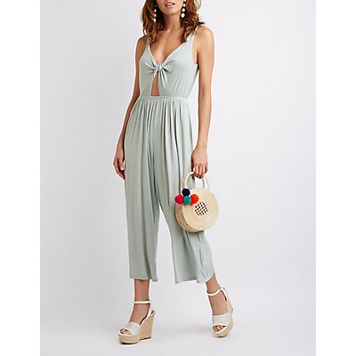Knotted Cut-Out Jumpsuit