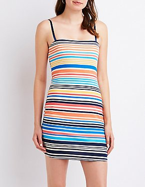 Striped Ribbed Knit Dress