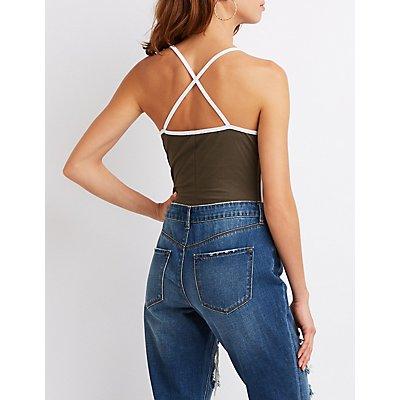 Strappy Varsity Stripe Bodysuit