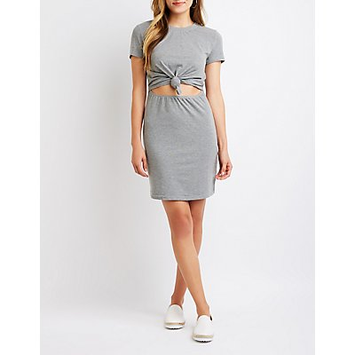 Knotted Cut Out Dress