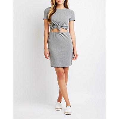 Tie Front Cut Out Dress