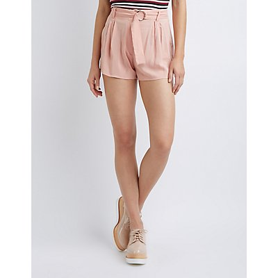 Pleated Paperbag Shorts