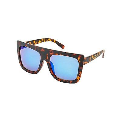 Tortoiseshell Shield Sunglasses