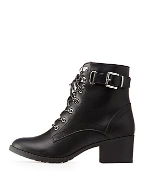 Buckled Combat Boots
