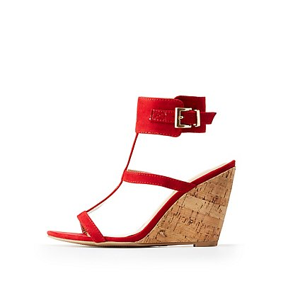 Ankle Cuff Wedge Sandals