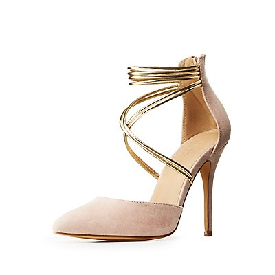 Pointed Toe Crisscross Pumps