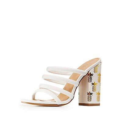 Pineapple Slide Sandals