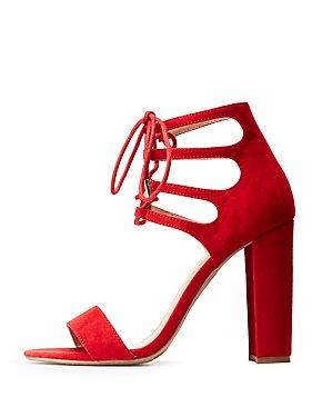 Lace Up Block Heel Sandals