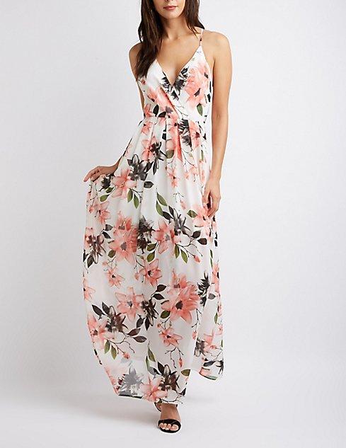 7de84f00c8 Floral Wrap Maxi Dress