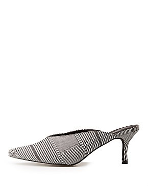 Printed Pointed Toe Mules