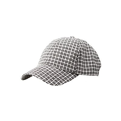 Gingham Baseball Hat