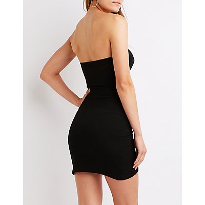 Ruched Wrap Mini Dress