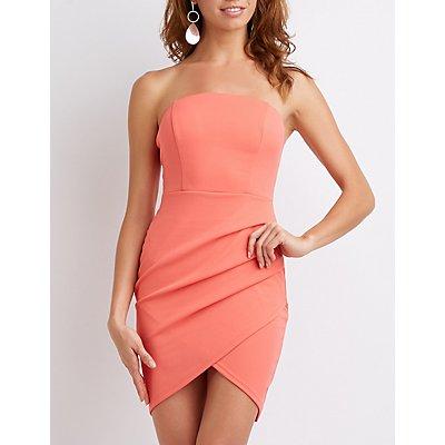 Ruched Wrap Mini Dress