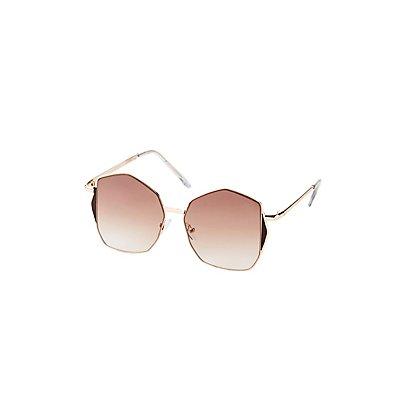Metal Geometric Sunglasses