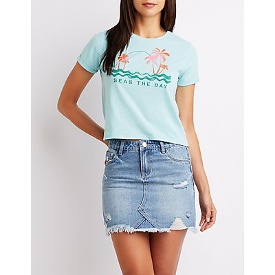 Seas The Day Skimmer Graphic Tee