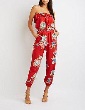 Floral Ruffle Jumpsuit
