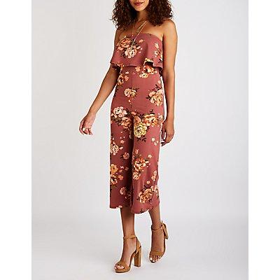 Floral Culotte Jumpsuit