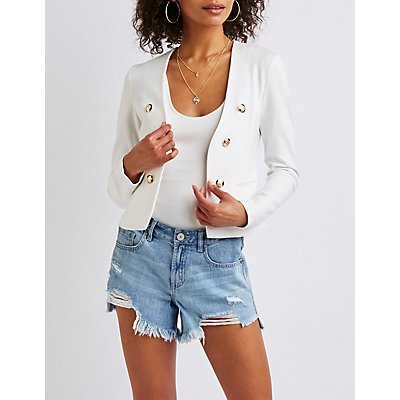 Ponte Open Front Blazer by Charlotte Russe
