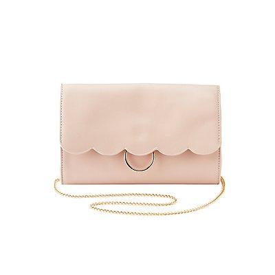 Scalloped O-Ring Crossbody Bag