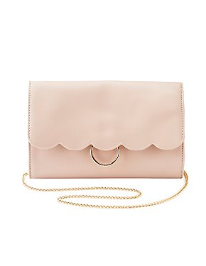 Scalloped O-Ring Crossbody Bag