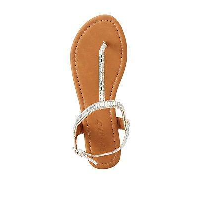 rhinestone-t-strap-flat-sandals by charlotte-russe