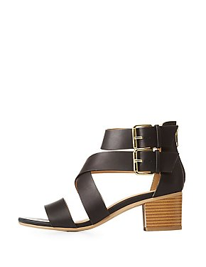 Buckled Open Toe Sandals