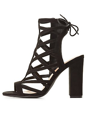 68cca34dbaed Caged Lace Up Sandals