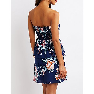 Floral Ruffle Skater Dress
